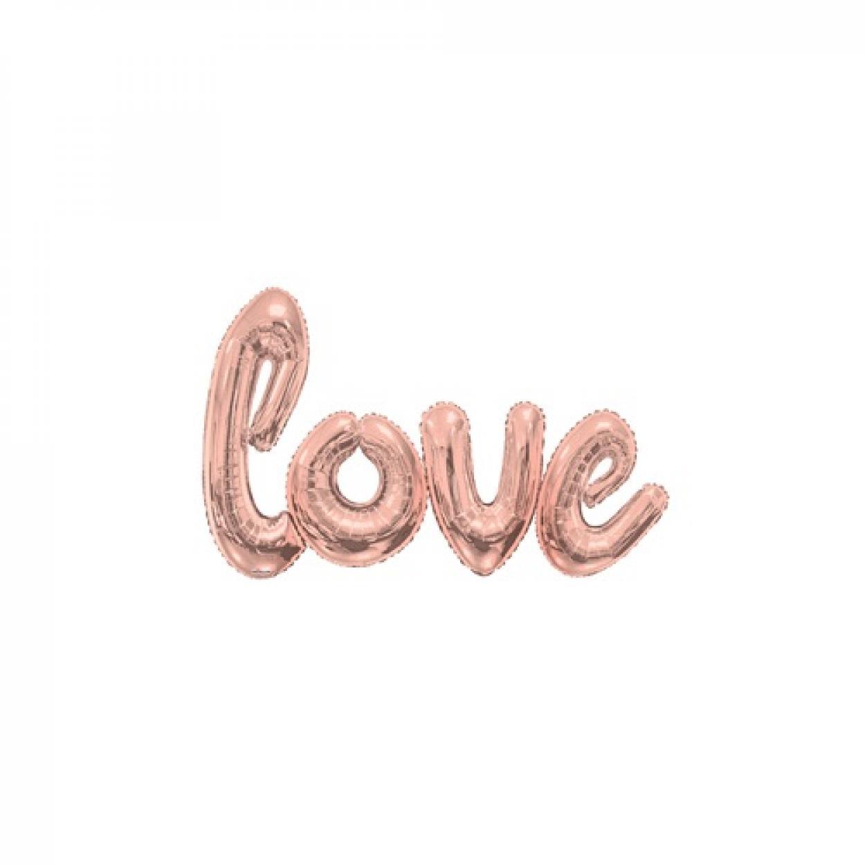 SCRITTA LOVE ROSA GOLD MAXI 15740