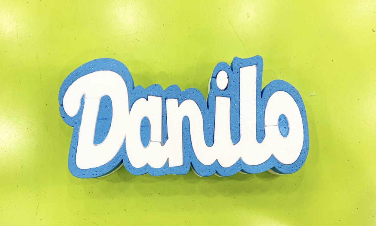 NOME DANILO H10 AZZURRO GLITTER 14096