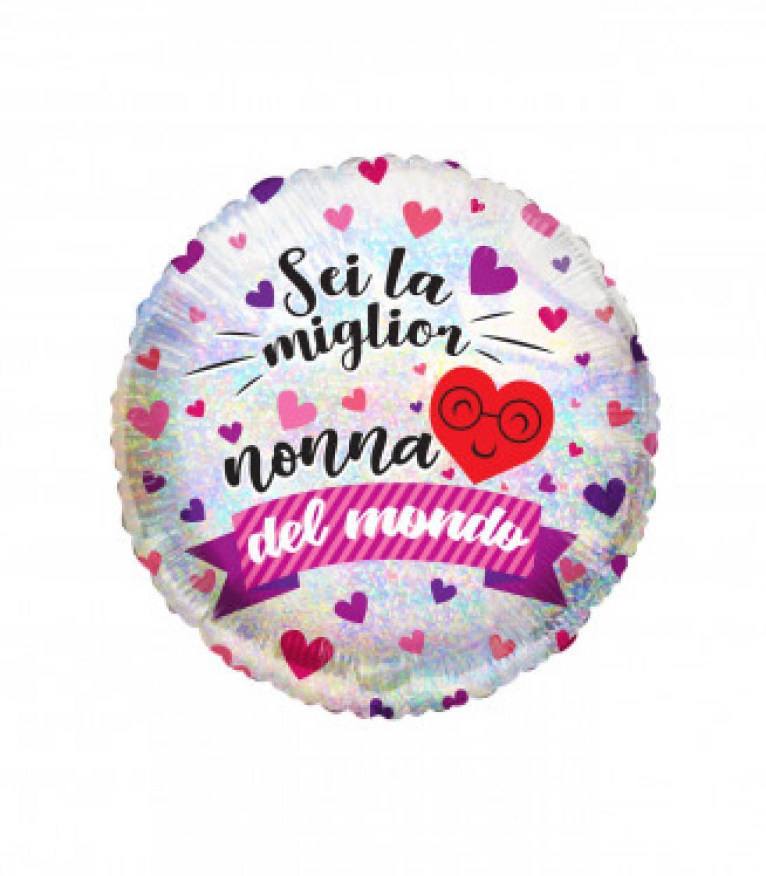"""FOIL 18"""" SEI LA MIGLIOR NONNA DEL MONDO CM.45 994963"""