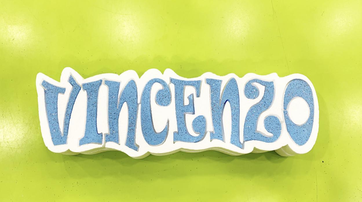 NOME VINCENZO H10 AZZURRO GLITTER 14096