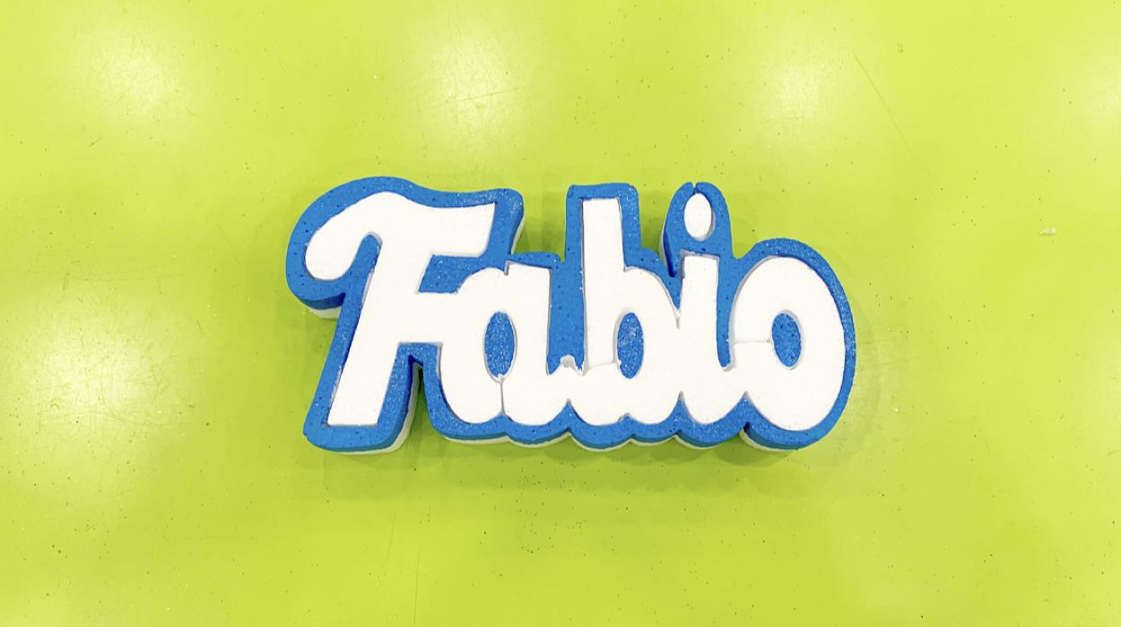 NOME FABIO H10 AZZURRO GLITTER 14096