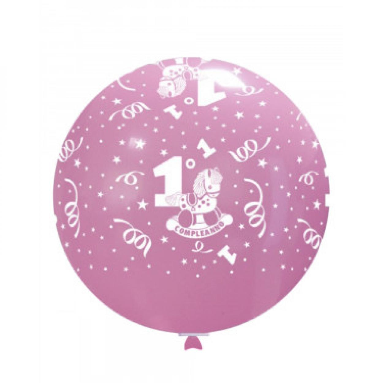 MONGOLFIERA 1°COMPLEANNO ROSA PZ.2 GSD220GLO01P